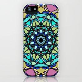 element colors ornamental mandala iPhone Case