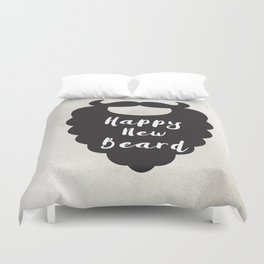Happy New Beard Duvet Cover