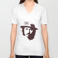 johnny depp V-neck T-shirts featuring Lab No. 4 - Johnny Depp Motivational quotes Poster by Lab No. 4