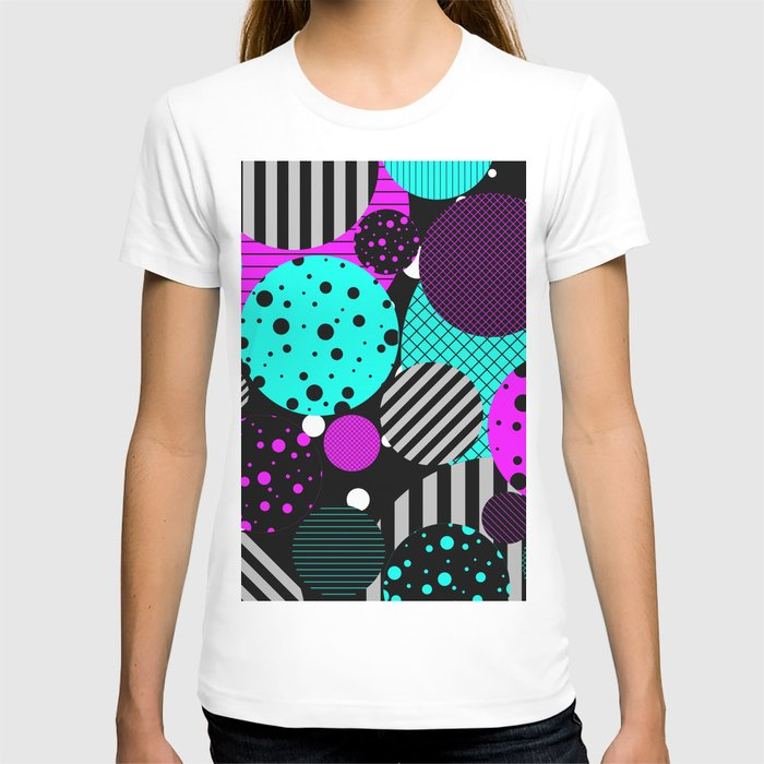 Circles, Bubbles And Stripes T-shirt