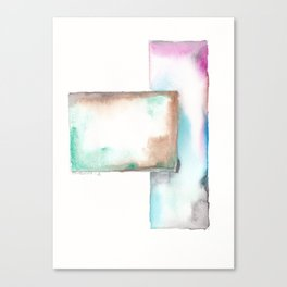 180914 Minimalist Geometric Watercolor 6 Canvas Print