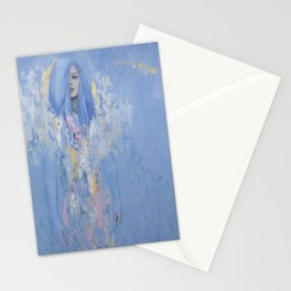 Blue Woman Stationery Cards
