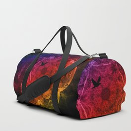 Flying through an alien landscape Duffle Bag
