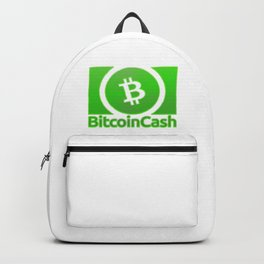 Bitcoin Cash BCH Green 1 With Sand Effect Logo Backpack