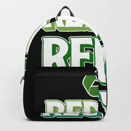 Reduce Reuse Recycle Save Earth By Recycling Backpack
