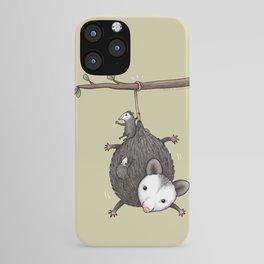Opossum Family iPhone Case