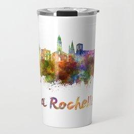 La Rochelle skyline in watercolor Travel Mug