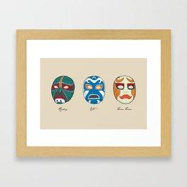 Three Ninjas Framed Art Print