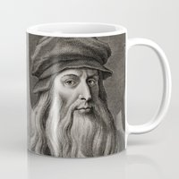 da vinci Mugs featuring Leonardo da Vinci by Palazzo Art Gallery