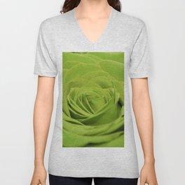 Green rose Unisex V-Neck