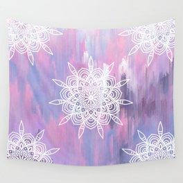Pastel Abstract Mandala Wall Tapestry