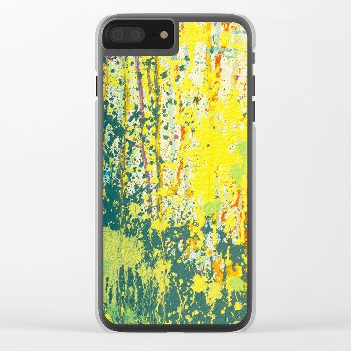 splash paint Clear iPhone Case