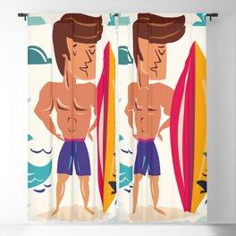 Summer Surfin' Blackout Curtain