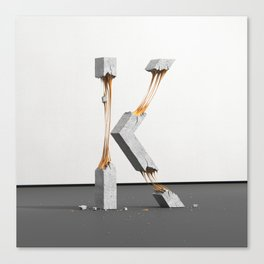 Konstrukt Letter K Canvas Print