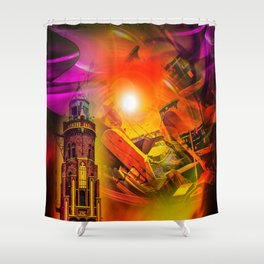 Lighthouse romance Shower Curtain