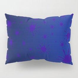 blue spots on blue background Pillow Sham