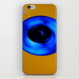 Yellow Blue Record iPhone Skin