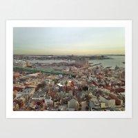 boston Art Prints featuring Boston by JM Pilkington