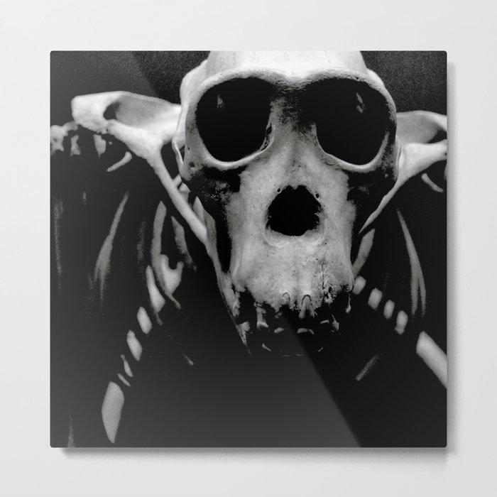 """Monkey Bones"" Metal Print"
