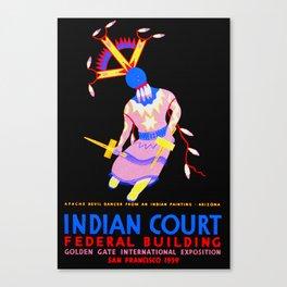Arizona Apache Devil Dancer - Native American Canvas Print