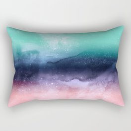 Modern watercolor abstract paint Rectangular Pillow