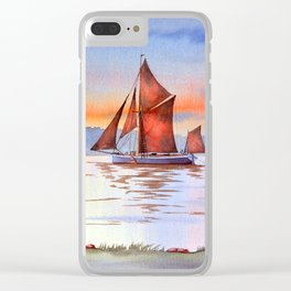 Thames Barge At Maldon England Clear iPhone Case