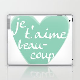 Je T'aime Beaucoup Mint Heart Laptop & iPad Skin
