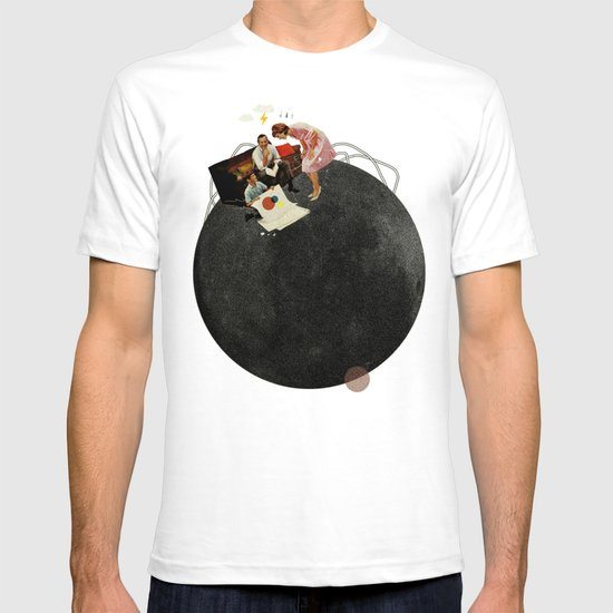 Life on Earth    Collage   White T-shirt