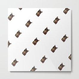 Polka Cat Sideways Animated Metal Print
