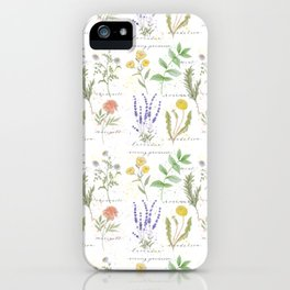 Medicinal Herbs iPhone Case