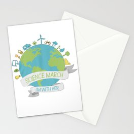 Science march - I'm with her Stationery Cards