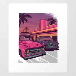 USA Diner Art Print