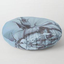 Borgund Stav Kirke IIII Floor Pillow