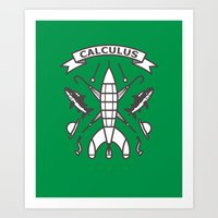 tintin Art Prints featuring Seal Of Calculus by M. Gulin