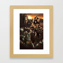 Barbarian battle Framed Art Print