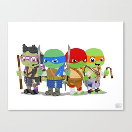 Wittle TMNT Canvas Print