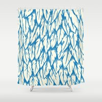 fringe Shower Curtains featuring Feathered Fringe by Joe Van Wetering
