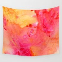 peach Wall Tapestries featuring Peach flow by itsme.emi