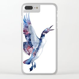 Nebular Loon Clear iPhone Case
