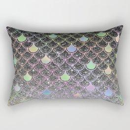 Mermaid scales ombre glitter #2 Rectangular Pillow