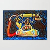 kandinsky Canvas Prints featuring Calling Kandinsky by Detailicious