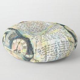 "Calligraphy of the poem ""IF"" by Rudyard Kipling Floor Pillow"