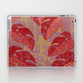 Hawaiian Lava Leaves Tapa Print Laptop & iPad Skin