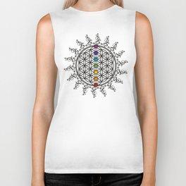 FLOWER OF LIFE, CHAKRAS, SPIRITUALITY, YOGA, ZEN, Biker Tank
