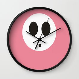 SHY GUY(PINK) Wall Clock