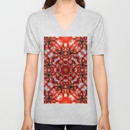 Crazy Flower Pattern - Flower Print - Alien Flower Unisex V-Neck