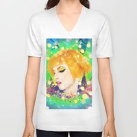 hayley williams V-neck T-shirts featuring Digital Painting - Hayley Williams - Variation by EmmaNixon92