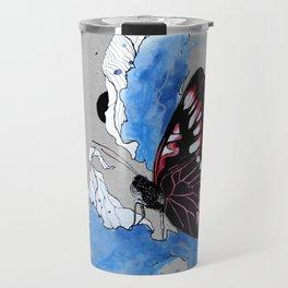 Butterfly III ink by carographic, Carolyn Mielke Travel Mug