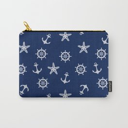 Navy Blue Nautical Pattern Carry-All Pouch