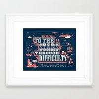 kansas Framed Art Prints featuring Kansas by Luke Bott